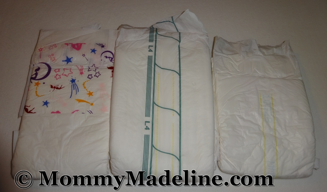 A discontinued ABU Sissy diaper and a Molicare