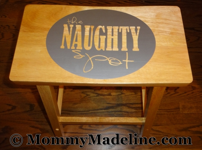 The naughty spot time out stool